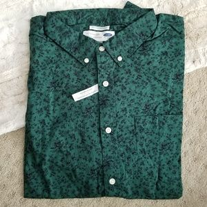 NWT • Old Navy L/S Casual Button Down • sz 3XL